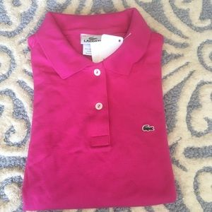 Authentic Lacoste polo short sleeve shirt top
